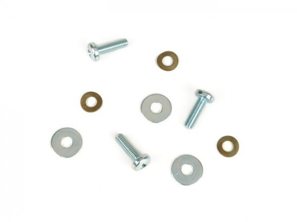 Schrauben-Set für Zündung -OEM QUALITÄT- verwendet für Zündgrundplatte Vespa Smallframe - Vespa V50, V90, SS50, SS90, PV125, ET3, PK50, PK80, PK50 S, PK50 HP, PK50 SS, PK80 S, PK125 S, PK50 XL, PK125 XL, ETS125