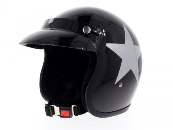 Helm -BANDIT Star Jet- schwarz - M (57-58 cm)