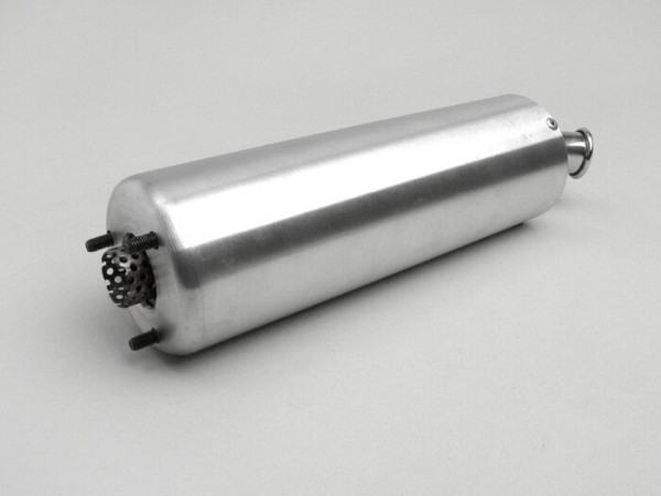Silencer -PM TUNING curved tailpipe- silver