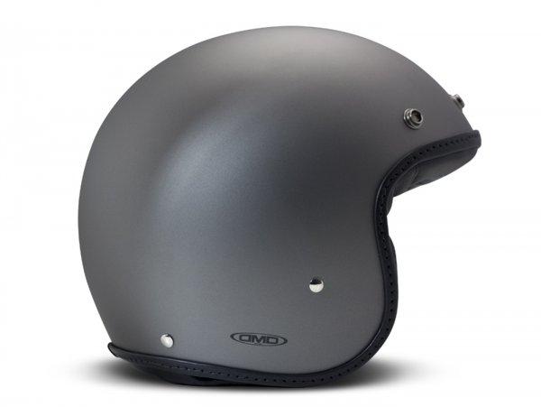 Helmet -DMD Jet Vintage- open face helmet, vintage - Pillow Matt Grey-Black - L (59cm)