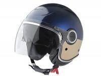 Helm -VESPA VJ- Jethelm, blau / beige - L (59-60cm)