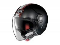 Helmet -NOLAN, N21 Visor Joie de Vivre- open face helmet, matt black - red - L (59-60cm)