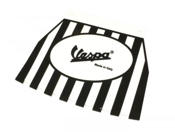 Faldón -CLASSIC Vespa, estriados- blanco/negro