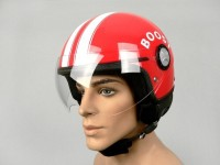 Helm -BOOST B710 RETRO- Rot/Weiss -