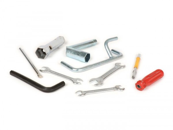 Bordwerkzeug ohne Werkzeugtasche -LAMBRETTA- 10-teilig -