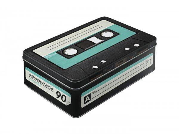 "Vorratsdose, flach -Nostalgic Art- ""Retro Cassette"" - 23x16x7cm (2.5l)"