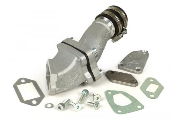 Ansaugstutzen - Membranansaugstutzen -MALOSSI 136 ccm MHR Aluminium- Vespa V50, V90, SS50, SS90, PV125, ET3 - AW=35mm, Durchlass=Ø30mm
