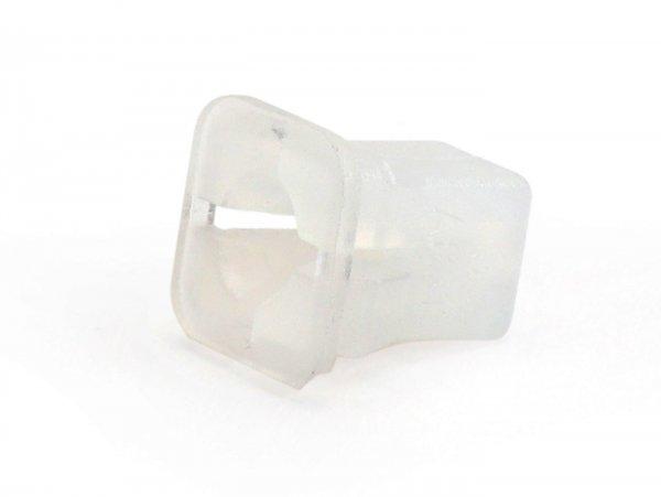 Kunststoffmutter -PIAGGIO- 3,9mm (verwendet für Befestigung Kaskade Vespa PX (ab Bj. 1984) oben)