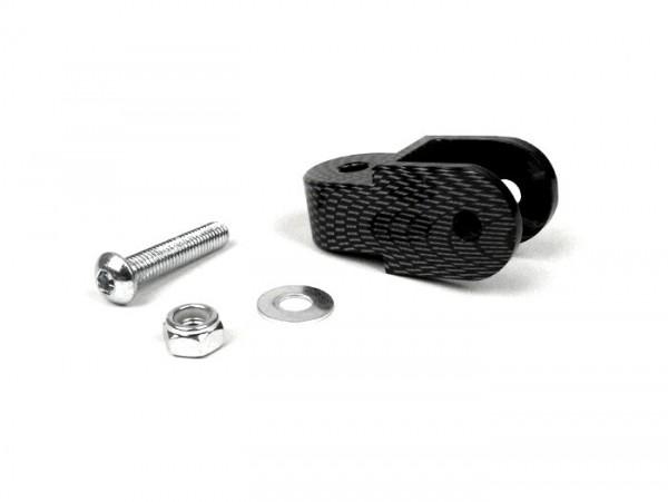 Shock absorber raiser -OEM QUALITY- 40mm (M8 x 20mm, type Minarelli 50) - carbon style
