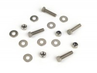 Center stand fastener kit -MB DEVELOPMENTS stainless steel- Lambretta LI (Series 1-2, till 09.1959), TV (Series 2, till 09.1959)