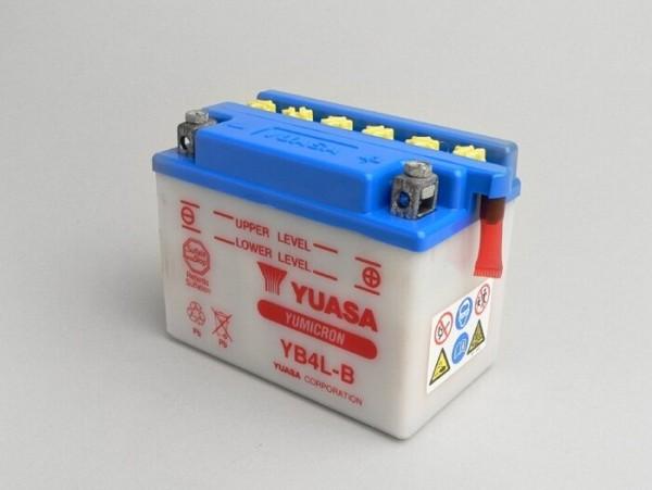 Batterie -Standard YUASA YB4L-B- 12V 4Ah - 120x70x92mm (ohne Säure)