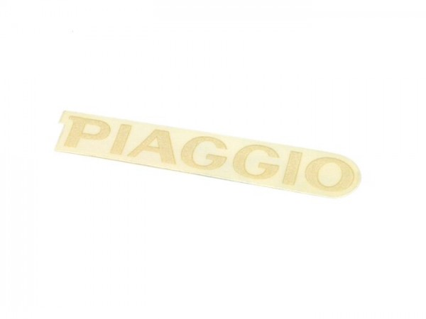 Schriftzug Kaskade -PIAGGIO, 78x14mm- Piaggio - Vespa PX Lusso (Bj. 1998-2000) - weiss