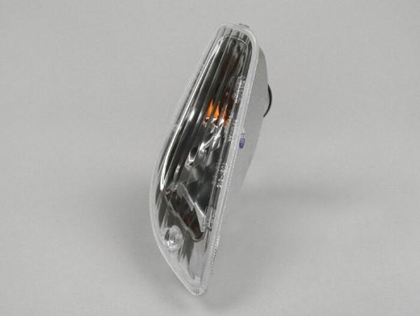 Intermitente -PIAGGIO- Vespa LX, LXV, S - incoloro - cristal sin estriados - delantero derecho