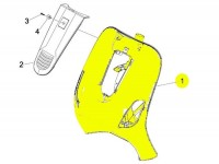 Beinschild -PIAGGIO- Vespa GTL (ZAPM31), Vespa GTS (ZAPM31, ZAPM45), Vespa GTV (ZAPM31, ZAPM45)