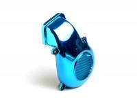Lüfterradabdeckung -CLASSIC- Minarelli 50 ccm AC vertikal - Blau eloxiert - BOOSTER, BUMP50, BWS50, SLIDER50, SPY, SR50 (-1994), STUNT, ZUMA50, AMICO