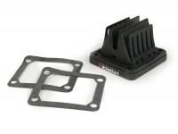 Valvola lamellare -TASSINARI VForce 4 (70x66x43mm)- Yamaha Banshee (tipo Yamaha RD350 YPVS) - si adatta anche Ansaugstutzen MRP, MMW, MBD/MRB
