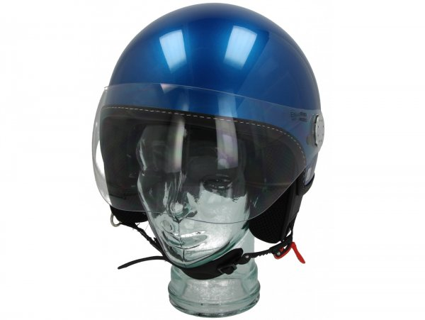 Casco -VESPA Visor 3.0- blu (vivace blue lucido (261/A)) - L (59-60cm)