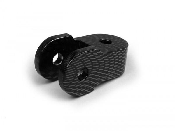 Shock absorber raiser -OEM QUALITY- 30mm (M8 x 20mm, type Minarelli 50) - carbon style