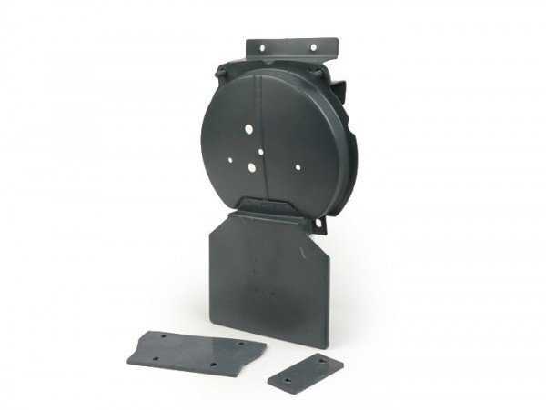 Reserveradhalter hinten mit Rücklichthalter -OEM QUALITÄT- Vespa V50, PV125, ET3 - grau