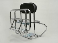 Rear rack, fold down + backrest + spare wheel holder -AMS CUPPINI- Vespa Largeframe