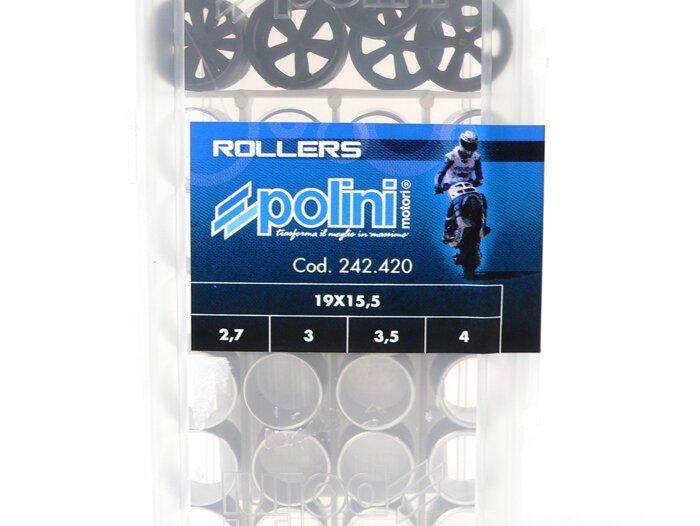 Kit 4 serie Rulli Polini 16x13 peso 5.5-6.0-6.5-7.0