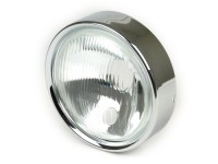 Headlight -SIEM Ø=130/150mm- Vespa Rally180 (VSD1T), Rally200 (VSE1T), Sprint Veloce (VLB1T) - glass, incl. headlight rim