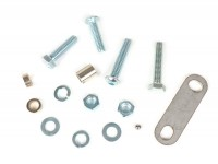 Mounting kit for steering lock -CMD Hammerhead- Vespa Smallframe/Largeframe - Vespa V50, 50N, Special, SR, V90, SS50, SS90, PV125, ET3, PK, PX, Sprint, Rally, Super, TS, GT, GTR, GL, SS180 - used as anti-theft to mount on the handlebar