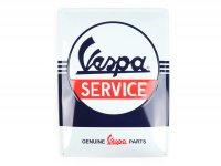"""Chapa de publicidad -Nostalgic Art- Vespa """"Service"""", 30x40cm"""