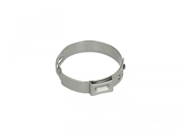 Hose clamp Ø=28.6mm (single ear clamp) -PIAGGIO- used for cooling water hoses