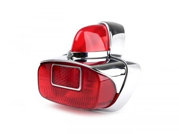 Rücklicht -SIEM Vespa GS- Metall - Chrom / Rot