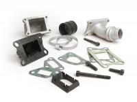 Collettore aspirazione - per valvola lamellare -MALOSSI lamellare 3 fori- Vespa PK XL - attacco=28,5mm