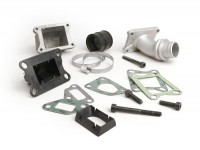 Intake manifold - for reed valve -MALOSSI 3-stud reed valve- Vespa PK XL - CS=28.5mm