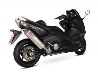 """Auspuff -SCORPION """"Red Power"""" Serket Komplettanlage- Yamaha TMAX 530 - Dämpfer Edelstahl"""