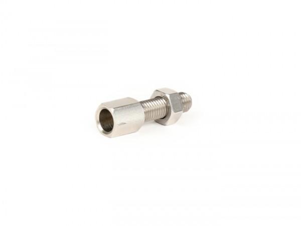 Adjuster screw M7 x 25mm -CASA LAMBRETTA, Long Neck- stainless steel