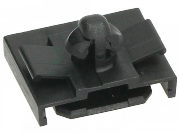 Retaining clip for wiring loom, black, flat -PIAGGIO- Vespa GTS 125 (ZAPMA3100, ZAPMA3200, ZAPMA3700), Vespa GTS 150 (ZAPMA3200, ZAPMA3100), Vespa GTS 250 (ZAPM45100), Vespa GTS 300 (ZAPM45200, ZAPM45202, ZAPMA3300), Vespa GTS HPE 300 (ZAPMA3600, ZAP