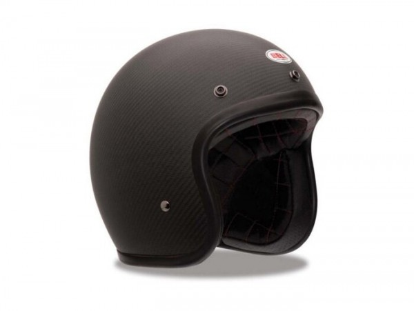 Casco -BELL Custom 500 Carbon, Matte- casco jet, nero - M (57-58cm)