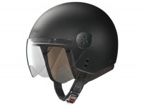 Helmet -FM-HELMETS RS21 (Made in Italy)- open face helmet, matt black - XS (53-54 cm)