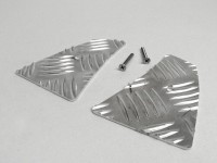 Chapa estriada aluminio reposapiés delantero -DF OPTICPARTS- CPI Hussar, Oliver, Keeway RX8
