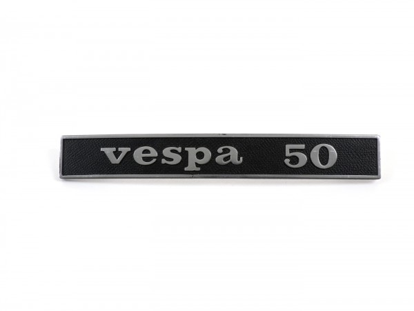 Badge frame rear -OEM QUALITY- Vespa 50 (rectangle) - Vespa 50 Special (since 1972)