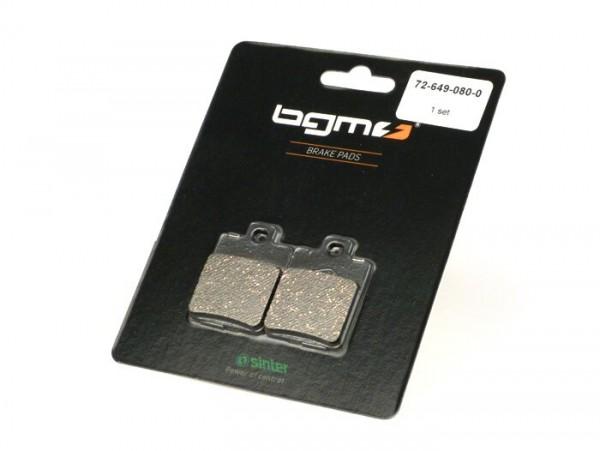 Brake pads -BGM 35.6x49mm- Vespa LT 125/150 3V/4T (RP8M), LX/LXV 50-125-150 (ZAPC38, ZAPC68), S 125 3V/4T (ZAPM68), Piaggio NRG MC²/MC³, Piaggio NRG Power DD/DT (ZAPC45), NRG Purejet (ZAPC452), Runner 50 (f), Runner 125-180 (r), Runner 50 Purejet (ZA