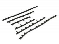 Footboard strip set -PIAGGIO- Vespa GT, GTL, GTS 125-300, GTV - black