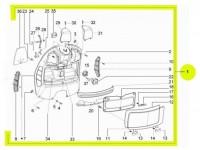 Gepäckfach -PIAGGIO- Vespa GTV (ZAPM31, ZAPM45) - komplett