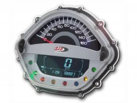 Speedo - Rev Counter -SIP- Vespa GTS, GTS Super 125-300 (2014-, facelift) - 160 (km/h, mph), 16.000(U/min, rpm) -