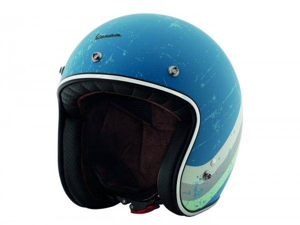 Helm -VESPA Jethelm Heritage- blau (azzuro cina Pia 402)- L (59-60 cm)