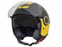 Helmet -VESPA  open face helmet VJ- Racing Sixties- green yellow-  M (57-58 cm)