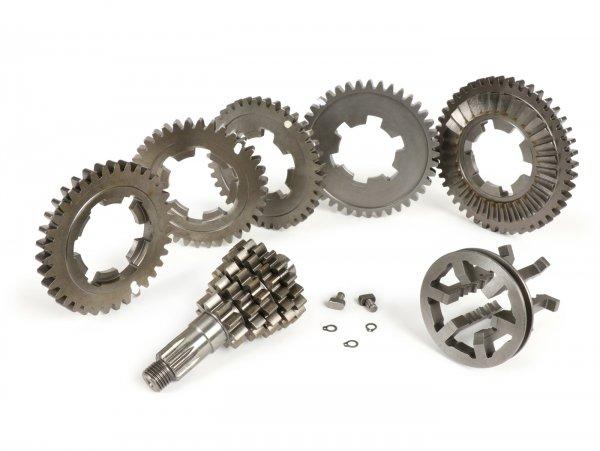 Getriebe -AF RAYSPEED Clo5e Ratio - 5 Gang- Lambretta LI, LIS, SX, TV (Serie 2-3), DL, GP - close ratio 1. 10/45, 2. 13/41, 3. 16/38, 4. 18/36, 5. 19/35 (kurzer 5. Gang)