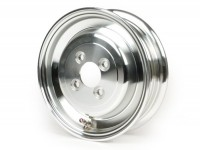 Cerchio ruota -SIP SENZA CAMERA D'ARIA 2.15-8 pollici, alluminio- Vespa (tipo 4 fori all'interno) - lucidato