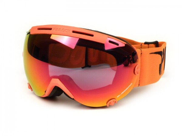Ski goggles -PINLOCK®- Subzero,  Antifog visor - orange / mirrored