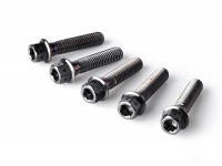 Wheel bolt set -HD CORSE, M8x35mm- Vespa GT, GLT, GTS 125-300, S, LX, LXV, Sprint, Primavera - black