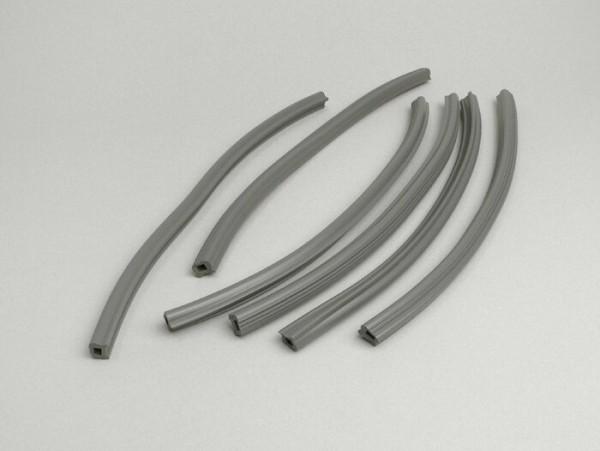 Floor board rubbers -LAMBRETTA- Lambretta LI 150 (Series 1-2), TV (Series 2) - grey
